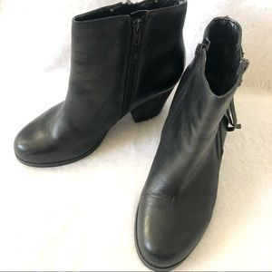 Marc Fischer Black Leather Booties - size 7.5M